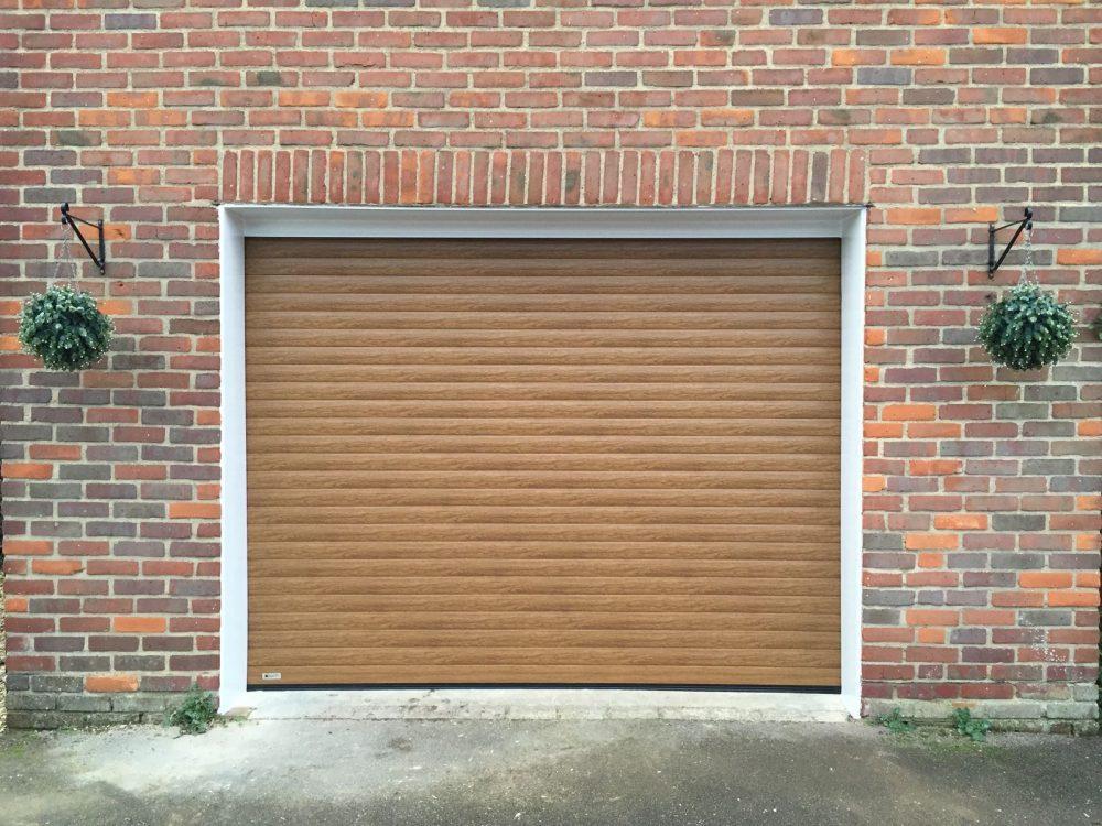 light oak roller garage door fitted in oakley by Shutter Spec Security