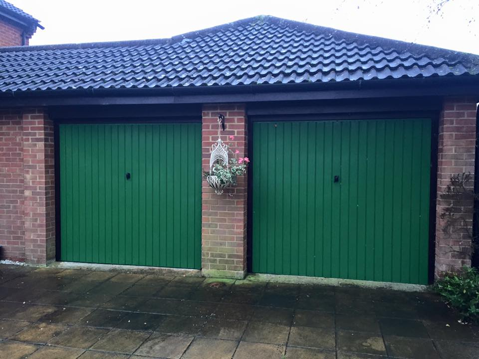 previous garage doors to be replaced by Shutter Spec Security