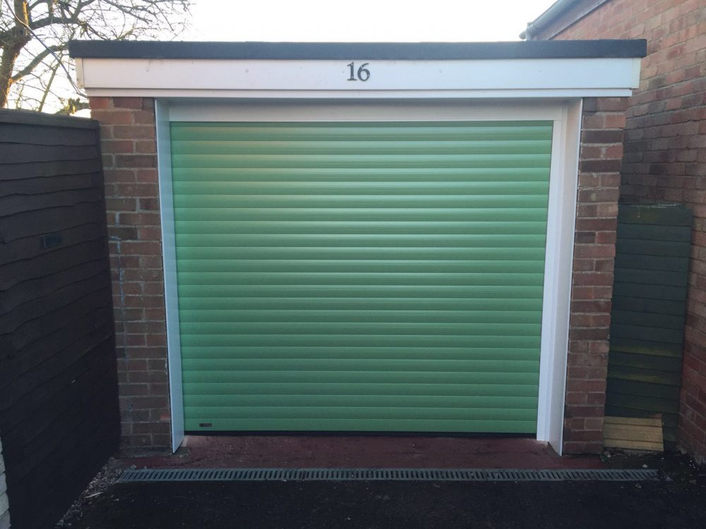 This beautiful Heritage Green coloured SeceuroGlide Roller Garage Door was installed in Thame, Oxfordshire by Shutter Spec Security
