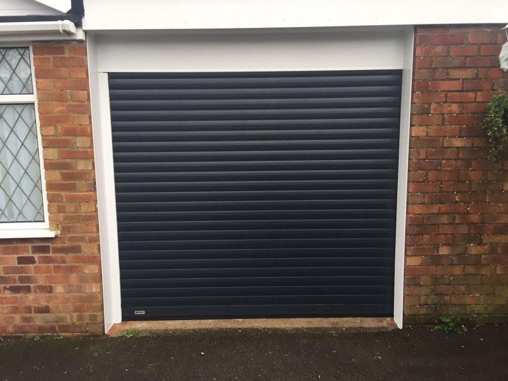 Anthracite Grey Roller Garage Door installed in Haddenham, Buckinhamshire by Shutter Spec Security