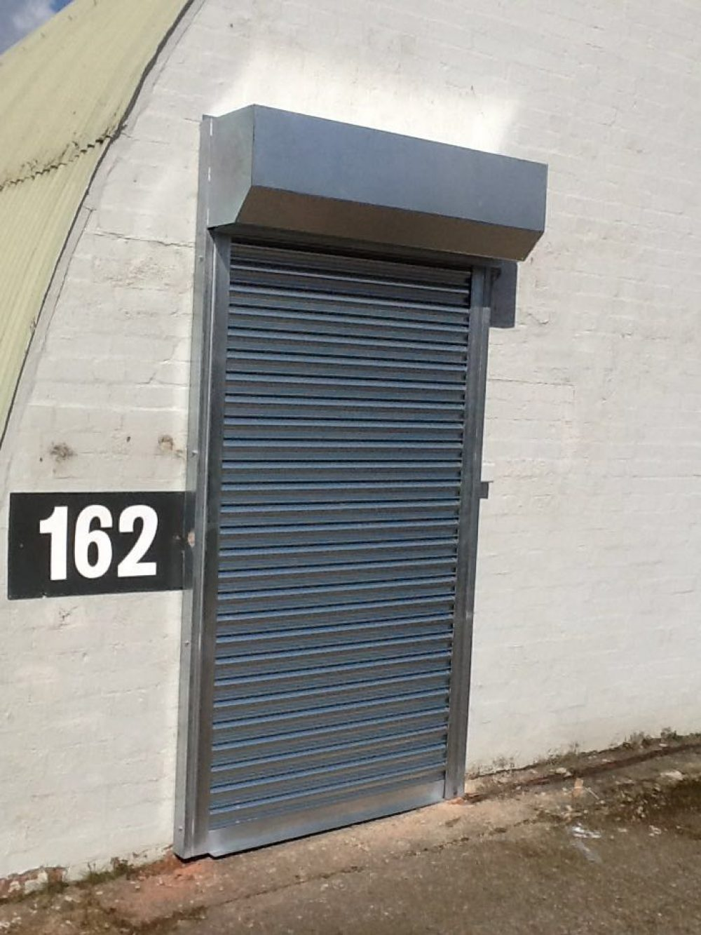 SWS Electric Seceurodoor 75 Commercial Shutter with Key Switch Operation installed in Culham, Oxfordshire by Shutter Spec Security.