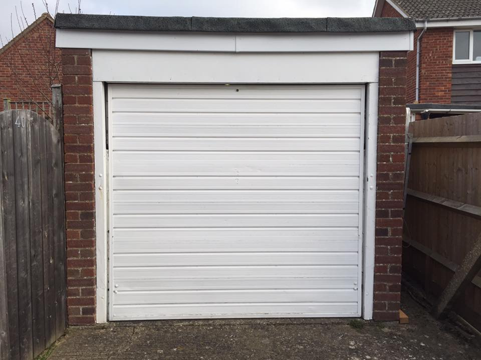 Previous white garage door replaced by Shutter Spec Security in Thame, Oxfordshire.
